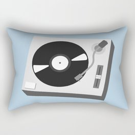 Turntable Illustration Rectangular Pillow