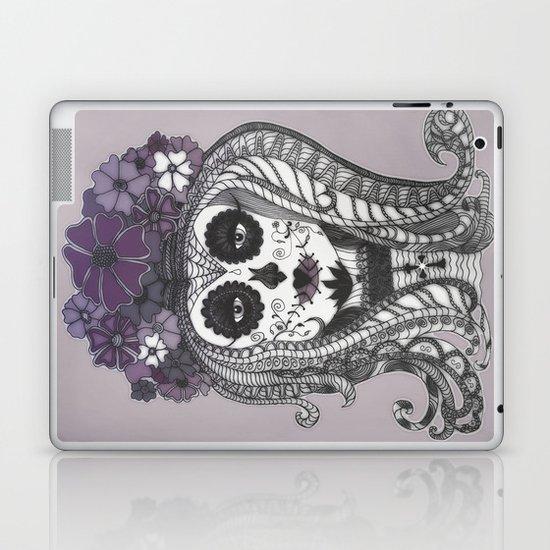 FLOWER CANDY SKULL Laptop & iPad Skin