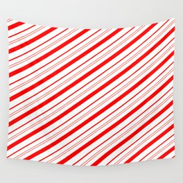 Candy Cane Stripes Wall Tapestry
