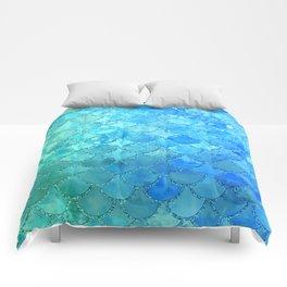 Summer Dream Colorful Trendy Mermaid Scales Comforters