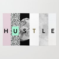 hustle Area & Throw Rugs featuring hustle by Miranda J. Friedman