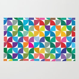 Geometrical work - Colours rotation Rug