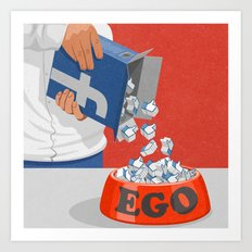 Give your ego some likes Art Print