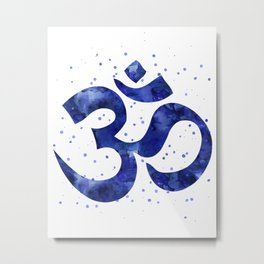 Ohm Symbol Blue Metal Print
