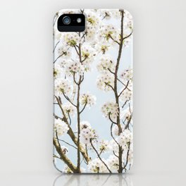 Flowering Springtime Hawthorn tree. iPhone Case