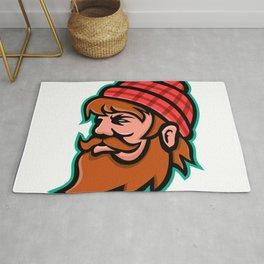 Paul Bunyan Lumberjack Mascot Rug