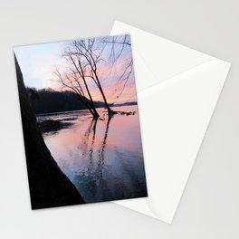 reflecting dusk Stationery Cards