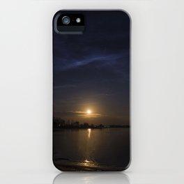 Moonrise Over Keystone Lake OKlahoma iPhone Case