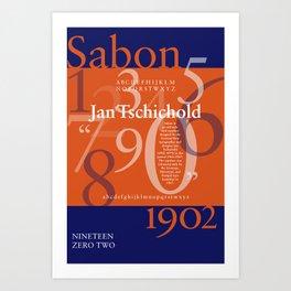 Sabon Typography Poster Art Print