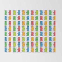 Rainbow Gummy Bears Throw Blanket