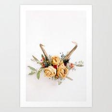 Floral Antlers IV Art Print