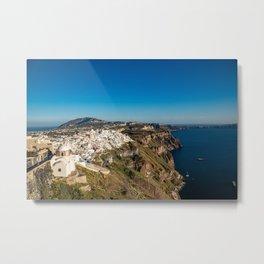 View of Thira, Santorini, Greece Metal Print