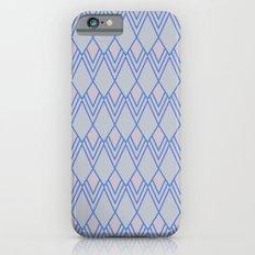 Art Deco Diamond Teardrop - Blue Slim Case iPhone 6s