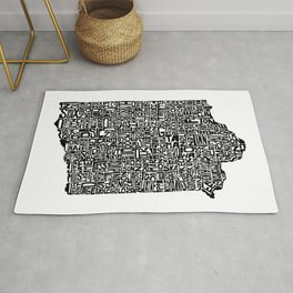 Typographic Iowa Rug