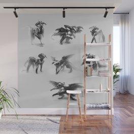 Dragon Sketches Wall Mural