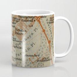 Vintage Map of The Kremlin in Moscow (1914) Coffee Mug