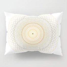 Golden geometry on white Pillow Sham
