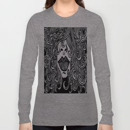 Hair with Lips Long Sleeve T-shirt