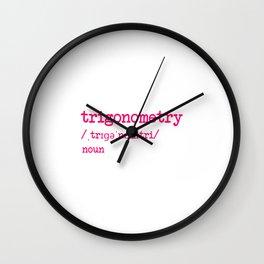 Trigonometry Teacher Word Definition Dictionary Mathematics Wall Clock