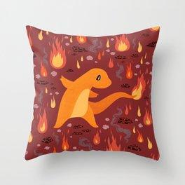 Fire Type Throw Pillow