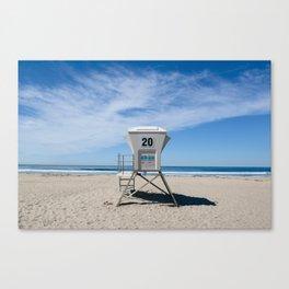 California Beach Day II Canvas Print