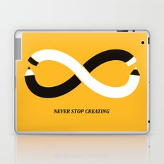 Never stop creating (the infinity pencil) Laptop & iPad Skin