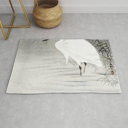 Little Egret (1900 - 1930) by Ohara Koson (1877-1945) Rug
