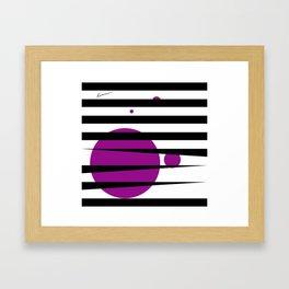 Pink purple stripes Framed Art Print