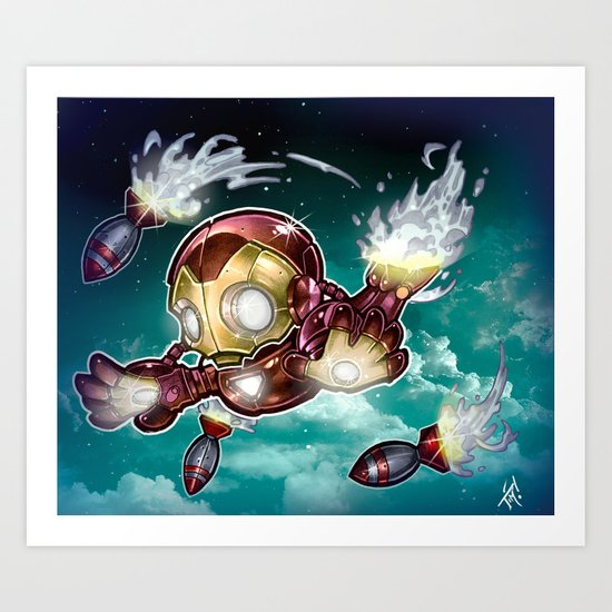 lil' Iron Dude Art Print