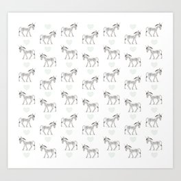 Sweet Donkeys Art Print
