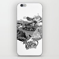 middle earth iPhone & iPod Skins featuring Middle Earth New Zealand by Guiso