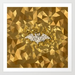 POLYNOID Bat / Gold Edition Art Print