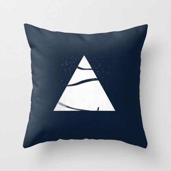 time to snow! Throw Pillow