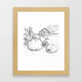 Harvest Sketch Framed Art Print