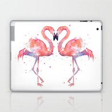 Pink Flamingo Love Two Flamingos Laptop & iPad Skin