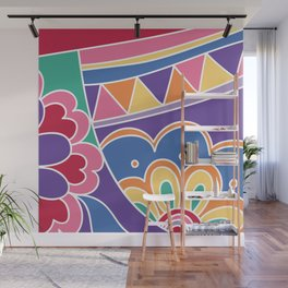 Retro floral Wall Mural