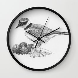 little-ringed plover Wall Clock
