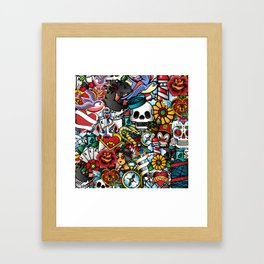 Tattoo Collage Framed Art Print