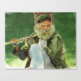 Flutist Canvas Print