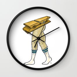 Clothespin Scrambled Legs Wall Clock