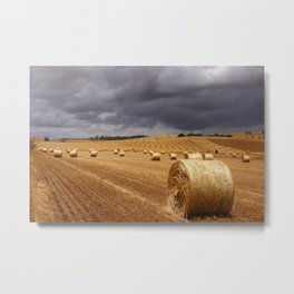 Harvest Before the Storm Metal Print