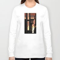 cityscape Long Sleeve T-shirts featuring Sunrise Cityscape by Andrew Formosa
