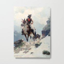 "William Leigh Western Art ""The Bear Tracker"" Metal Print"