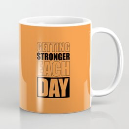 Lab No. 4 - Getting Stronger Each Day Gym Motivational Quotes Poster Coffee Mug