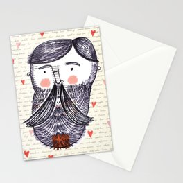 Bearded Lumberjack Man Stationery Cards