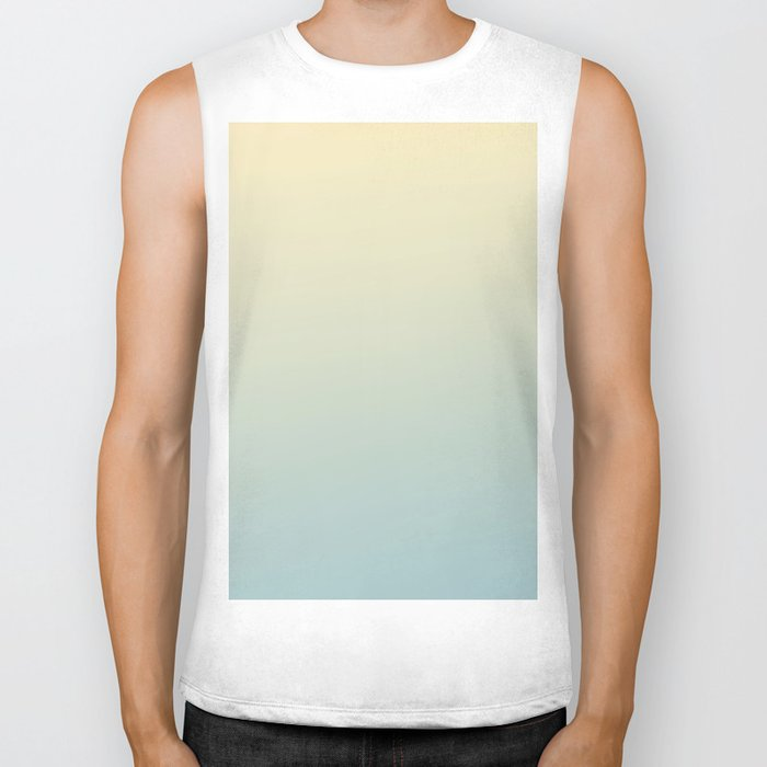 FADING AWAY - Minimal Plain Soft Mood Color Blend Prints Biker Tank