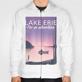 Lake erie fishing travel poster Hoody