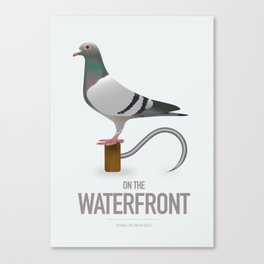 On The Waterfront - Alternative Movie Poster Canvas Print