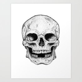 Traditional Anatomical Skull Design Art Print