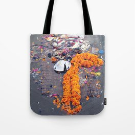 Floating in the Ganges Tote Bag